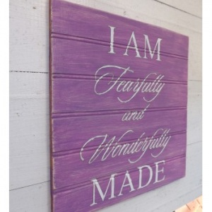 purple-i-am-fearfully-and-wonderfully-made-sign-wedding-sign-just-married-home-decor-country-home-decor-rustic-signs