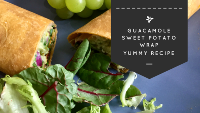 Quick & Easy Guacamole Vegan Sweet Potato Wraps