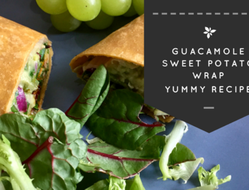 Guacamole Sweet Potato Vegan Wraps Recipe